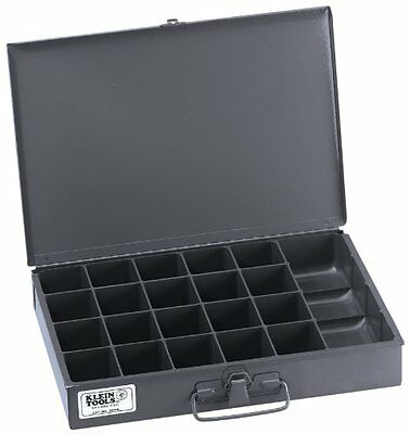 Klein Tools 54440 21-Compartment Storage Box with Tool Compa