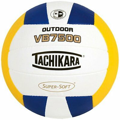 Tachikara VB7500 SUPER-SOFT Composite Stitched Outdoor Volleyball, Royal-Wh