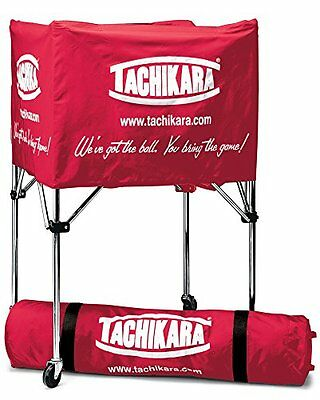 Tachikara Collapsible Ball Cart with Nylon Carry Bag, Scarle