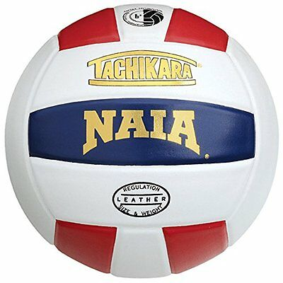 Tachikara NAIA Official Game Premium Leather Volleyball (Sca
