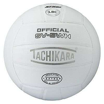 Tachikara SV5WH NFHS Approved Interscholastic Play Top Grade Leather Volley