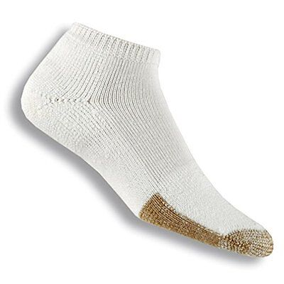 Thorlo Unisex Thick Cushion Tennis Micro-Mini Crew Sock, White, Large/13 Me