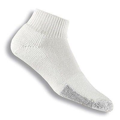 Thorlo Men's Tennis Mini Crew Sock, White,Size 11-Medium
