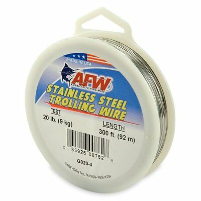American Fishing Wire Stainless Steel Trolling Wire (Single Strand), Bright