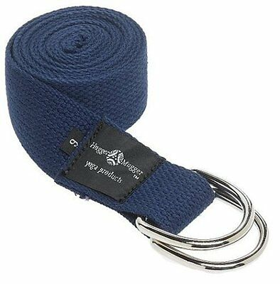 Hugger Mugger D-Ring Yoga Strap 6-Foot (Navy)