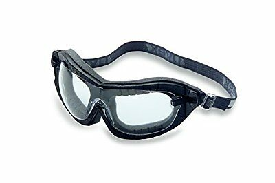 Uvex S1890X Fury Safety Goggles, Black Frame, Clear Uvextreme Lens, Flame R