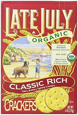 Late July Organic Classic Rich Crackers  6-Ounce Boxes (Pack of 12)