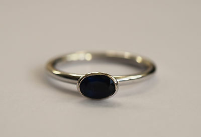 Fine 18ct white gold sapphire engagement ring