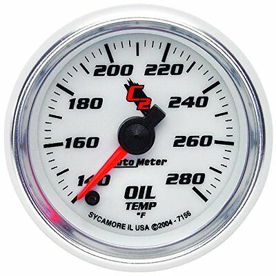 Auto Meter 7156 C2 Full Sweep Electric Oil Temperature Gauge