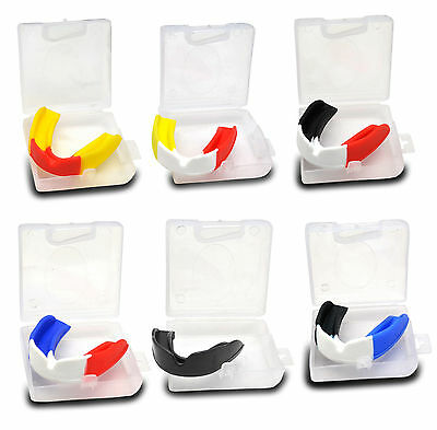 Gum Shield Mouth Guard Senior Junior Boxing Fighting Rugby Martial Arts Hockey