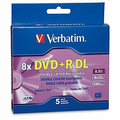 Verbatim 95311 DVD+R DL AZO 8.5 GB 8x-10x Branded Double Layer Recordable D