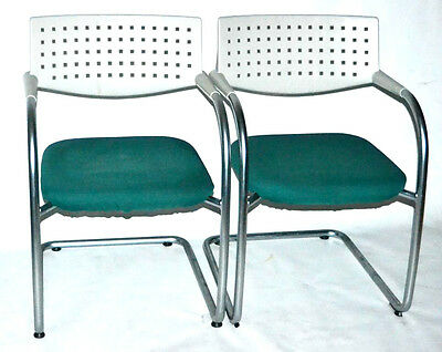 A Pair of VITRA 'VISAVIS 2' Chairs designed by Antonio Citterio [PL1818A]