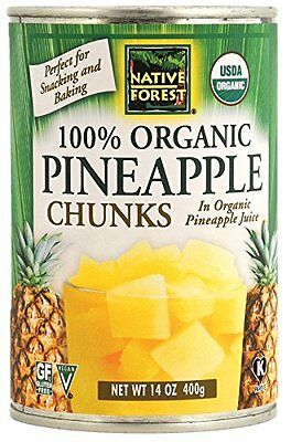 Native Forest Organic Pineapple Chunks  14-Ounce Cans (Pack of 6)