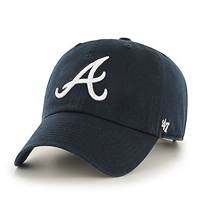 MLB Atlanta Braves '47 Clean Up Adjustable Hat, Navy, One Si