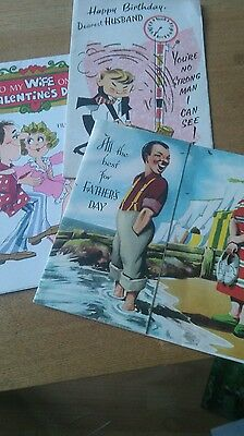 Collectable vintage cards from 1960s - birthday - fathers day - valentines