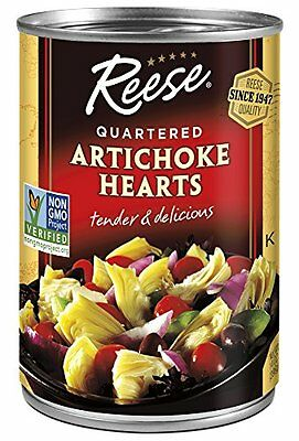 Reese Quartered Artichoke Hearts  14-Ounce Cans (Pack of 12)