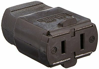 Leviton 102-P 15 Amp, 125 Volt, Cord outlet, Polarized, Non-Grounding, Brow