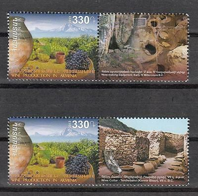 Armenia MNH** 2013 Mi. 873 ZFI ZFII Cradle of Wine Production