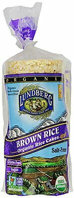 Lundberg Organic Brown Rice Cake  Unsalted  8.5-Ounce Units  (Pack of 12)