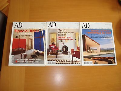 Architectural Digest 3 French Edition Magazines 2002