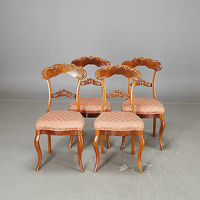 ANTIQUE FRENCH STYLE FURNITURE - Set Of 4 Chairs nyrokoko