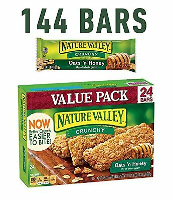Nature Valley Crunchy Granola Bars  Oats 'n Honey  24-Count Boxes (Pack of