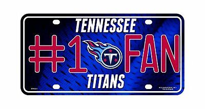 NFL Tennessee Titans #1 Fan Metal Tag