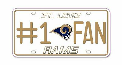 NFL St. Louis Rams #1 Fan Metal Tag