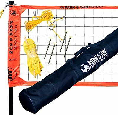 Park & Sun Spectrum 2000 Orange Volleyball Net