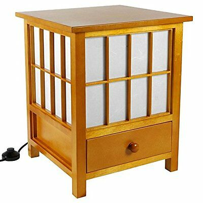 Oriental Furniture Asian Zen Indirect Lighting, 19-Inch Hokkaido End Table