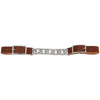 Weaver Leather Horizons Single Flat Link Chain Curb Strap, 4 1/2-Inch, Suns
