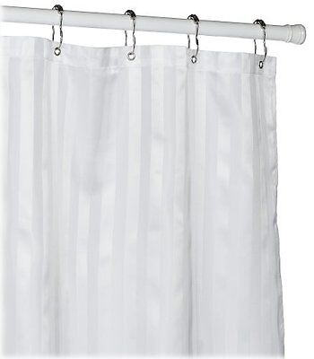 Croscill Fabric Shower Curtain Liner, White