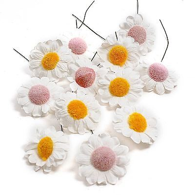 Hobbycraft Wired Paper Flower Heads 12 Pack Artificial Stems Decoration Display