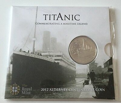 2012 Royal Mint Titanic 100th Anniversary BU £5 Five Pound Coin Pack