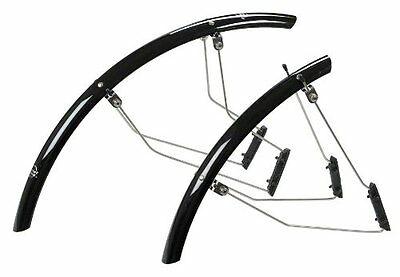 Planet Bike SpeedEZ Road Front and Rear Bicycle Fender Set (Black, 35mm Wid