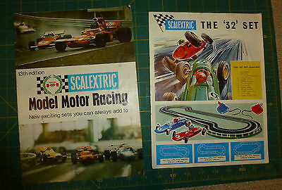 Older Scalextric Catalog/Brochure x 2 (one from 1972 and other earlier?)