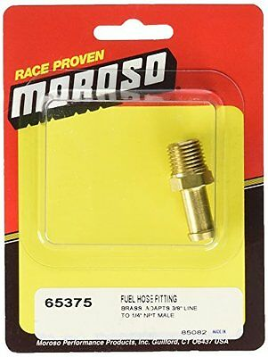 "Moroso 65375 3/8"" Hose Barb to 1/4"" Male NPT Straight Fitting"
