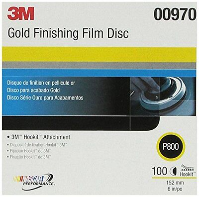 "3M 00970 Hookit 6"" P800 Grit Finishing Film Disc"