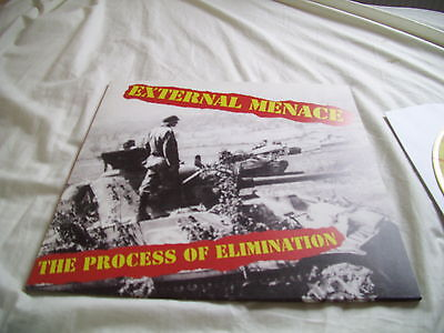 EXTERNAL MENACE process of elimination lp new and in stock red/yellow viny uk82l