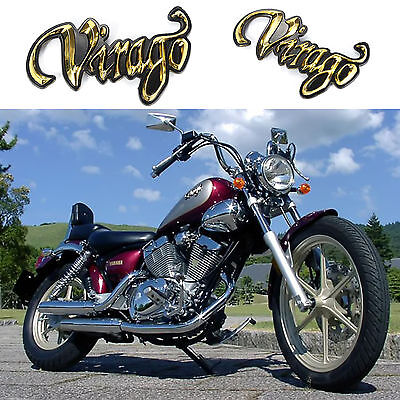 Replace Gold Oil Fuel Gas Tank Sticker For Yamaha Virago Xv125 250 400 535 700