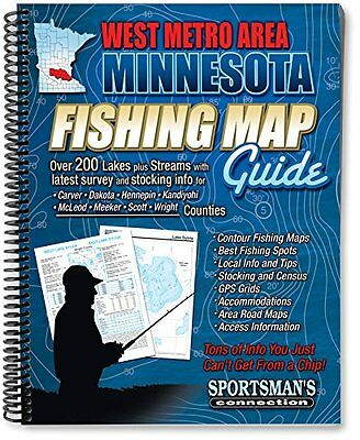 Sportsman's Connection Fishing Map Guide West Metro and West Central Minnes