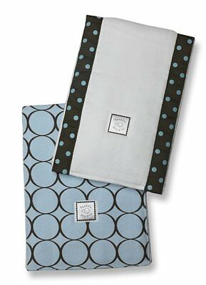 SwaddleDesigns Baby Bupies - Set of 2 - Brown with Blue Dots and Pastel Blu