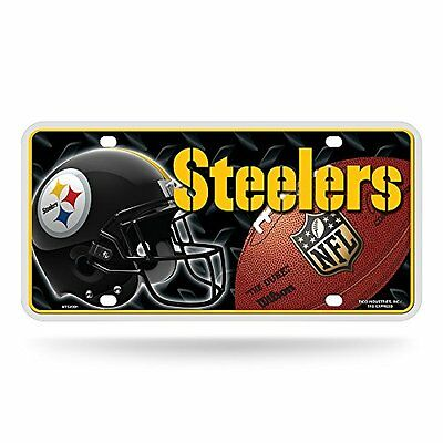 NFL Pittsburgh Steelers Metal Auto Tag