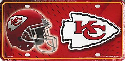 NFL Kansas City Chiefs Metal Auto Tag