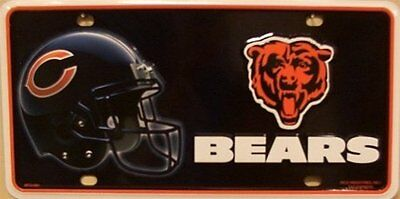 NFL Chicago Bears Metal Auto Tag
