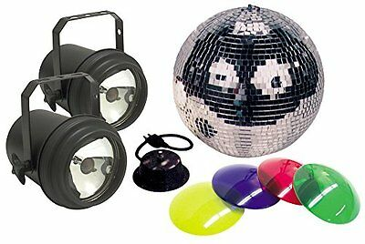 American Dj M-502L 12 Inch Mirror Ball Package With 2 Pinspo