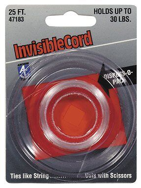 Hillman Picture Hanging Cord Invisible Holds Up To 10 Lb Card