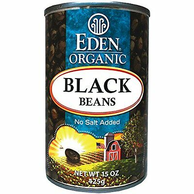 Eden Organic Black Beans  No Salt Added  15-Ounce Cans (Pack of 12)