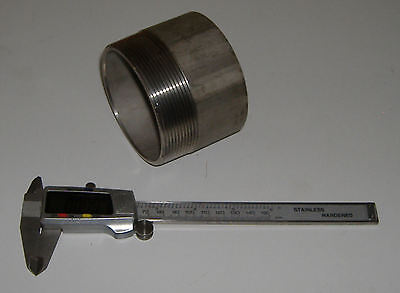 """Weld nipple 316 stainless steel, 3off 3"""" BSPT and 4 off  4"""" BSPT"""