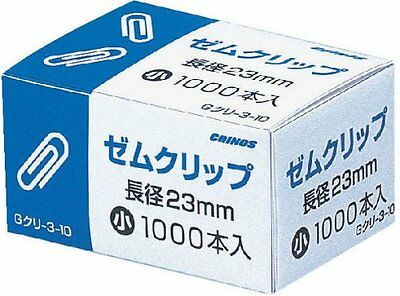 1 box clinofibrate scan paper clip Small (1000) G chestnut -3-10 (japan import)